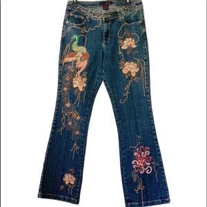 Willi Smith embroidered jeans